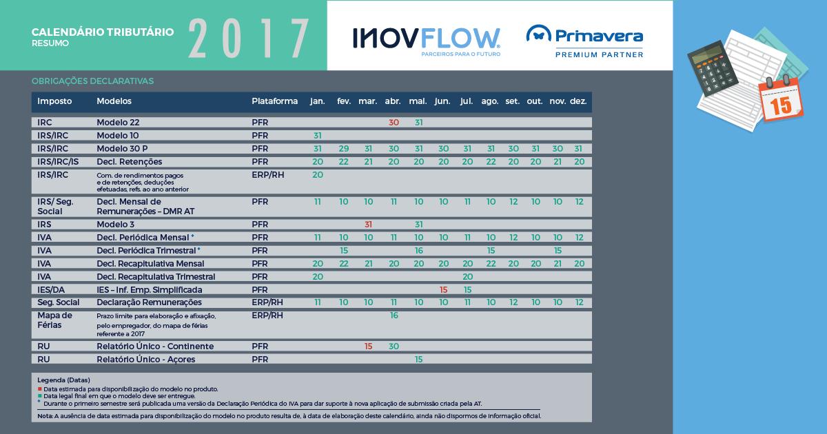 InovFlow CalendarioTributario2017