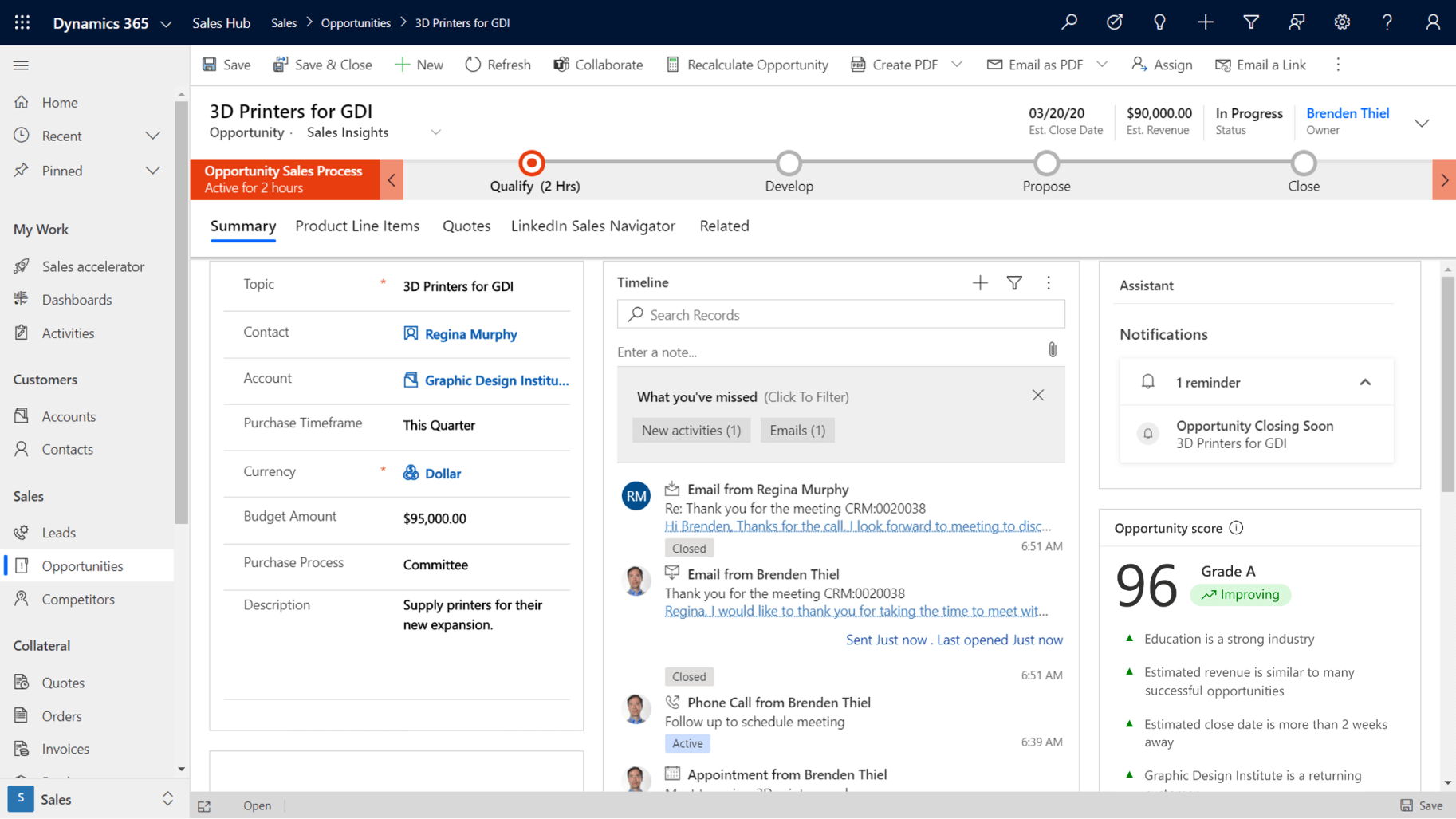 dynamics 365 crm for sales